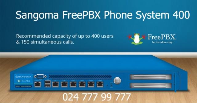 Giải pháp truyền thông kinh doanh Sangoma FreePBX 400 cũng có tích hợp đơn giản và liền mạch với phạm vi điện thoại IP
